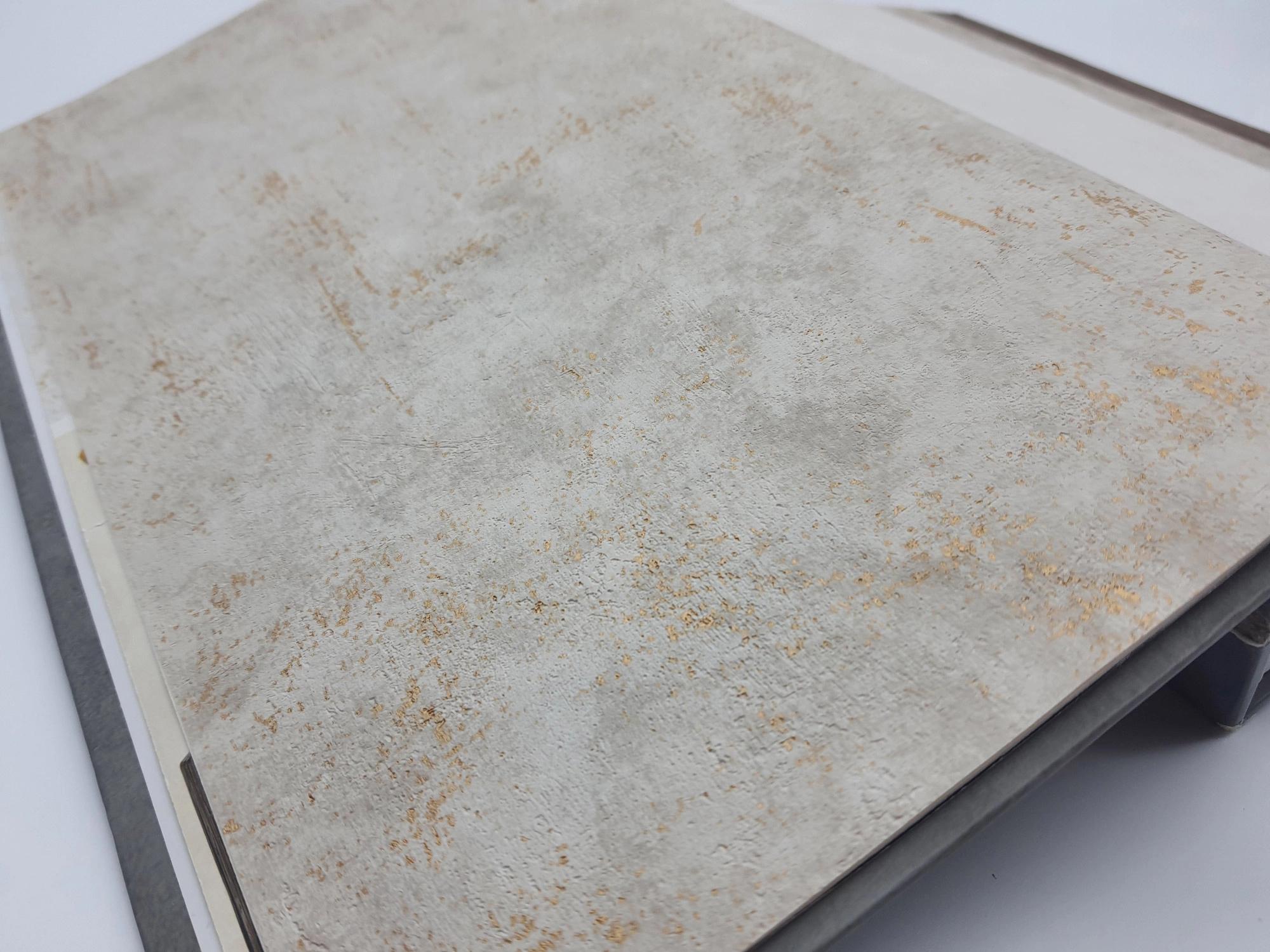 betonhatású vinyl tapéta fürdőszobába