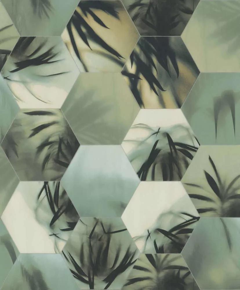 geometrikus modern tapéta fürdőszobába