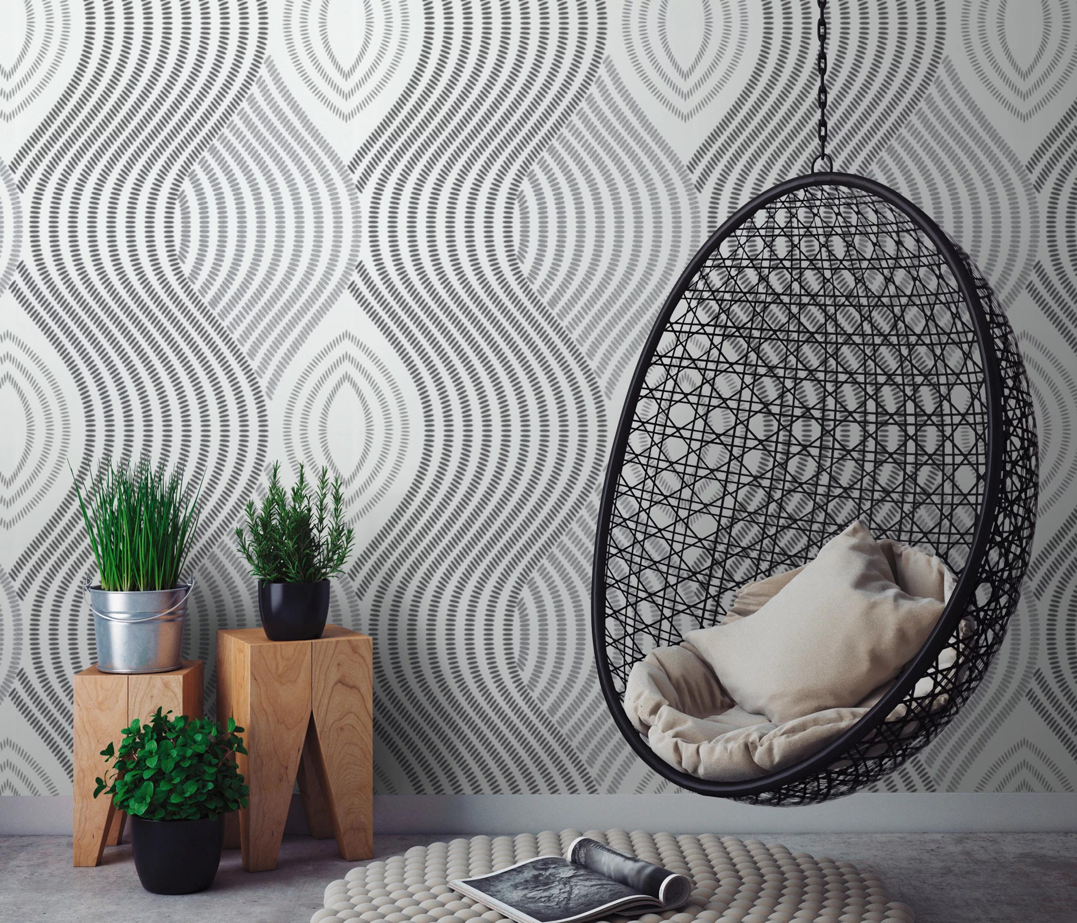 modern design tapéta fekete fehér