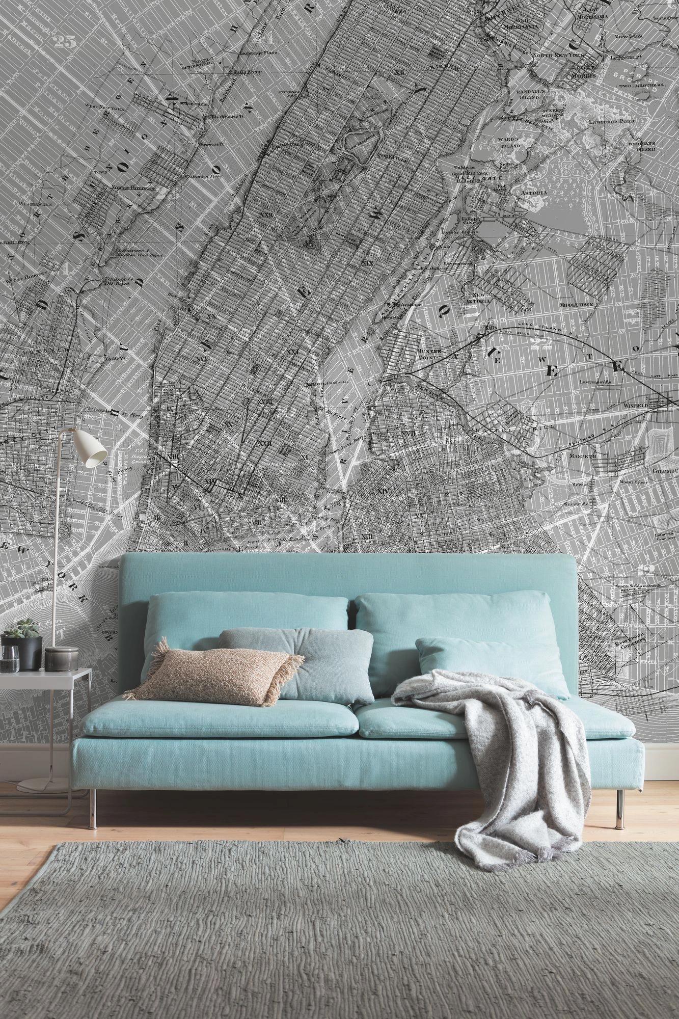 new york térkép fali poszter