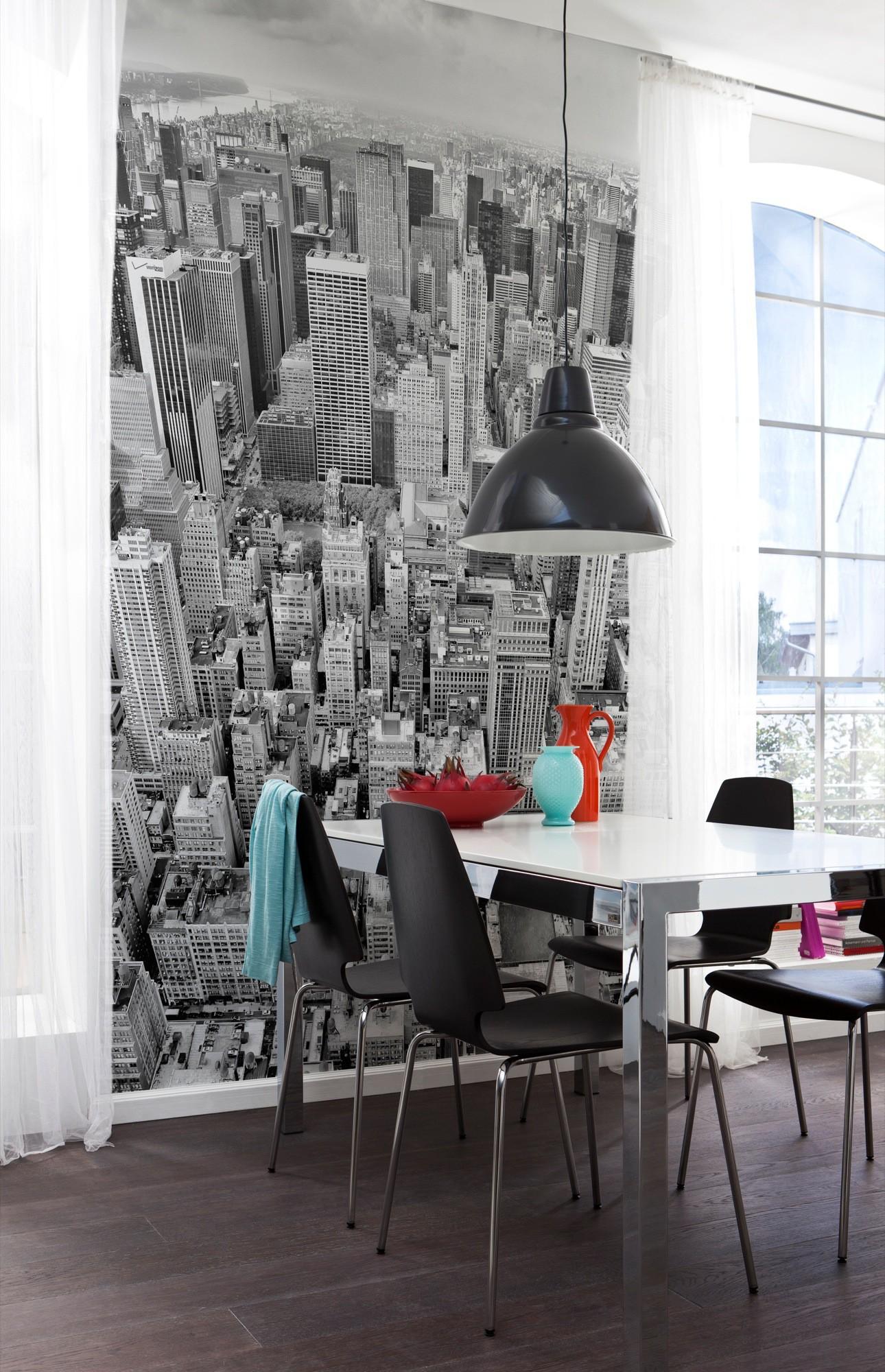 fekete fehér new york fali poszter
