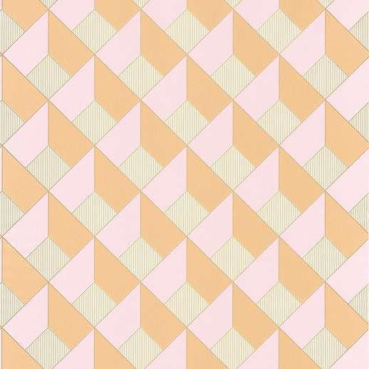 3D hatású geometriai mintás tapéta