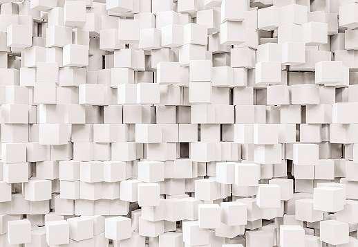 3D kockák fali poszter