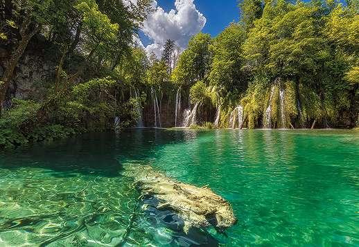 A Horvát Plitvicei tavak fali poszter