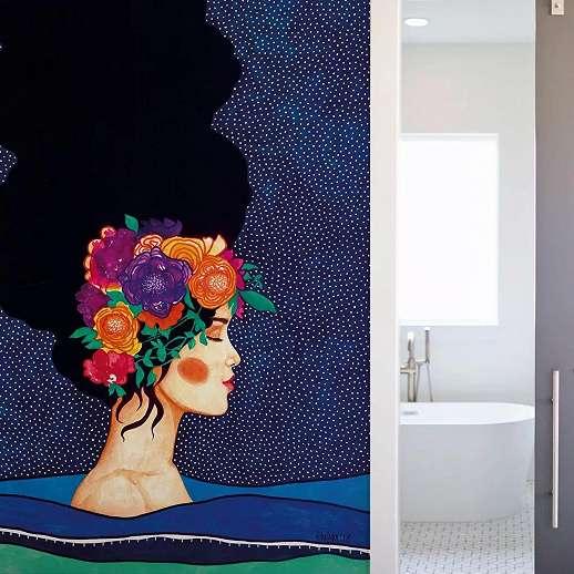 Absztrak színes női portré vlies fali poszter