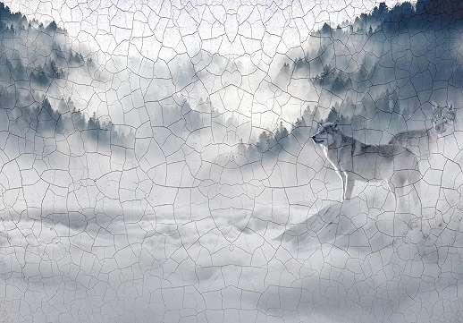 Absztrakt farkas mintás fali poszter