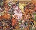 Absztrakt keleties hangulatú fali poszter