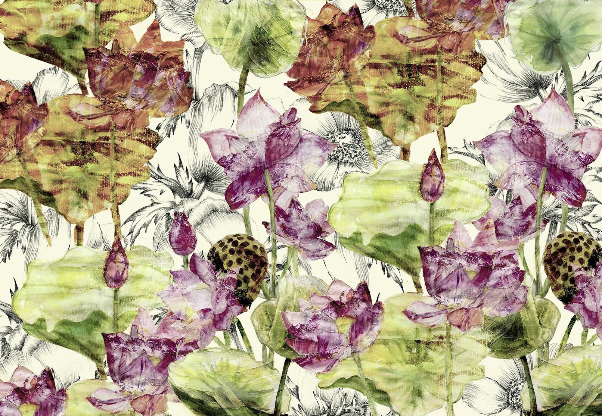 Absztrakt lótuszvirág fali poszter