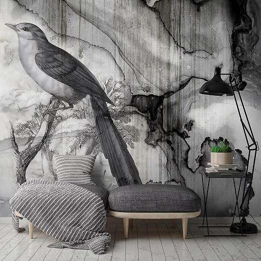 Absztrakt madár mintás óriás fali poszter