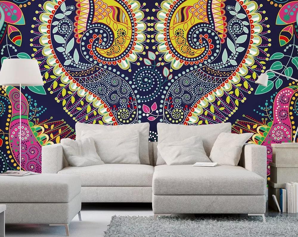Absztrakt mandala mintás orientális stílusú fali poszter