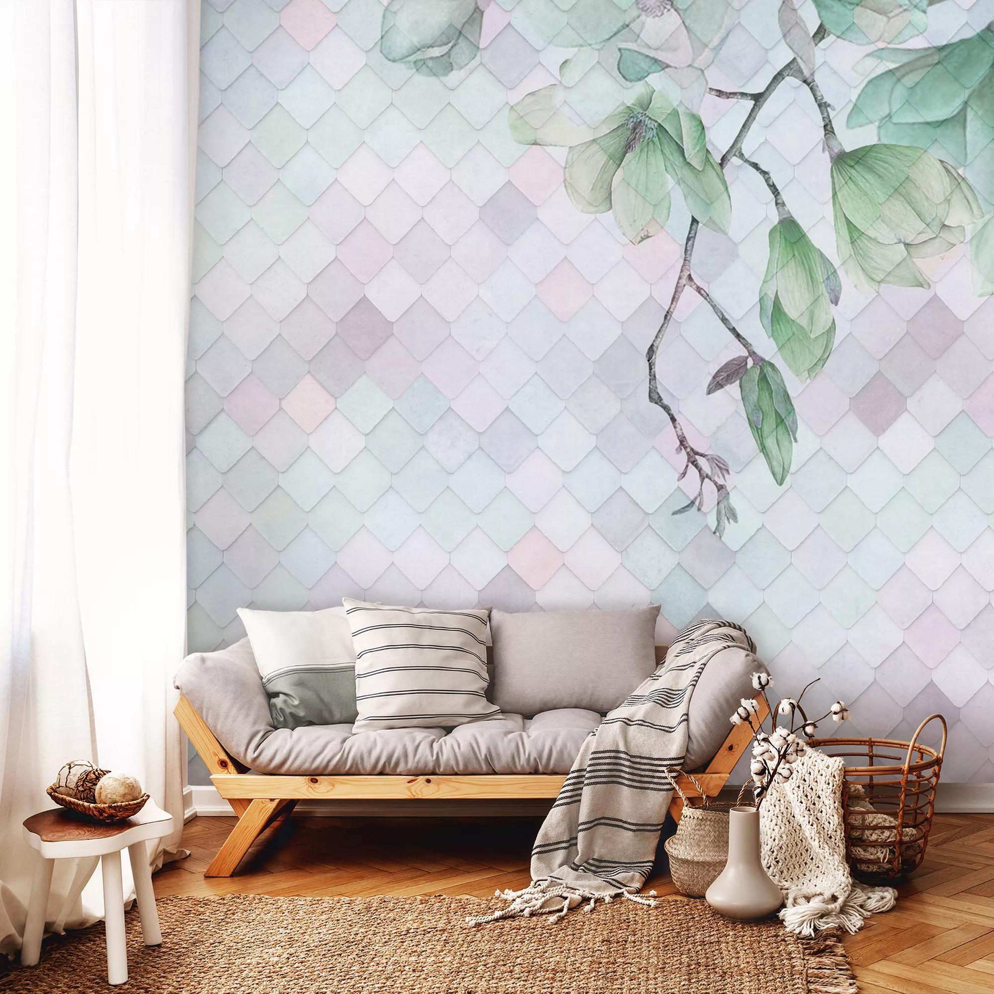 Absztrakt modern virágmintás fali poszter