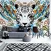 Absztrakt színes tigris mintás fali poszter
