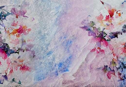 Absztrakt színes virágmintás fali poszter