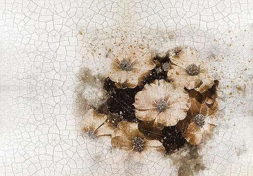 Absztrakt virágmintás fali poszter