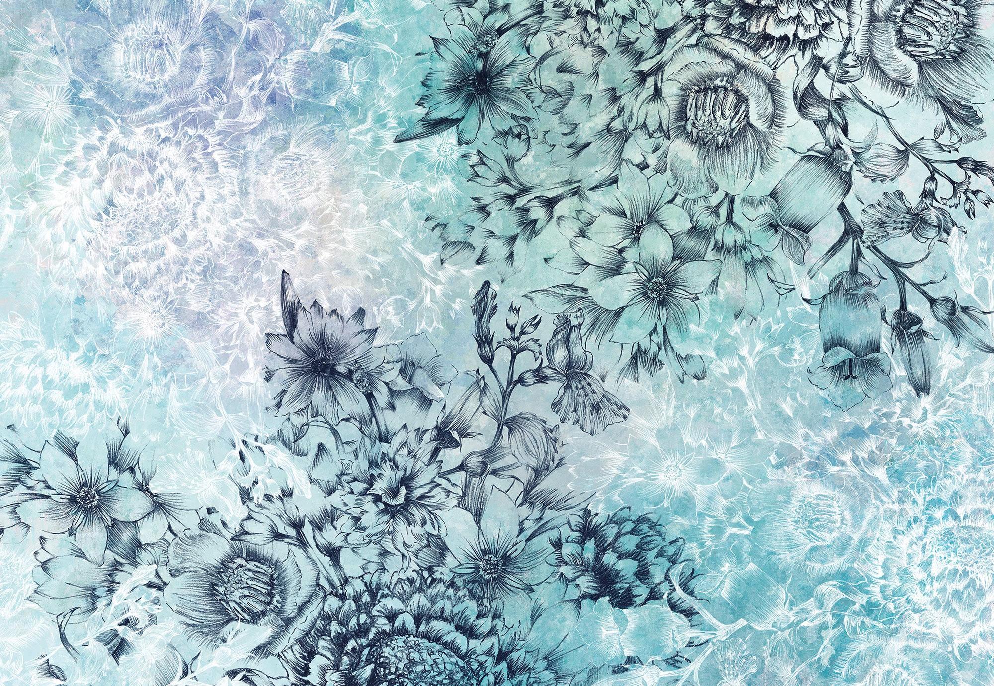 Absztrakt virágok fali poszter