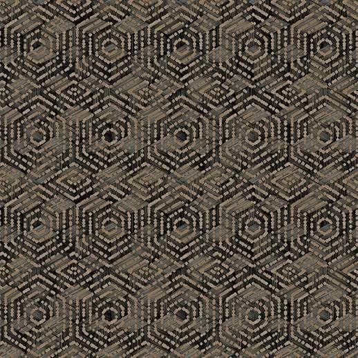 Afrikai hangulatú geometrikus mintás vlies dekor tapéta