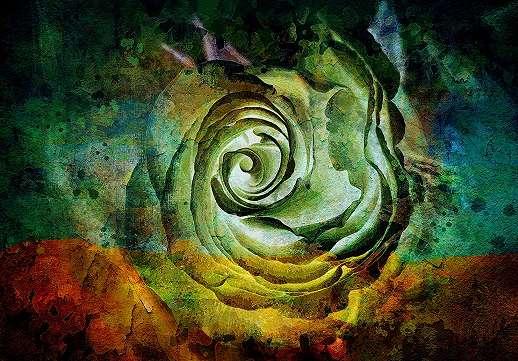 Akvarell hatású asbztrakt virágmintás fali poszter