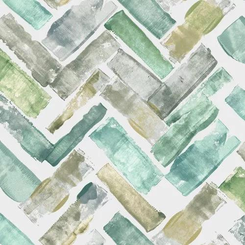 Akvarell hatású modern geometrikus mintás design tapéta