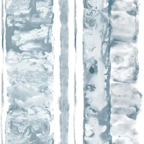 Akvarell kék csíkos mintás dekor tapéta