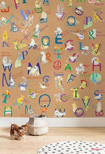 Állat mintás fali poszter gyerek szobába