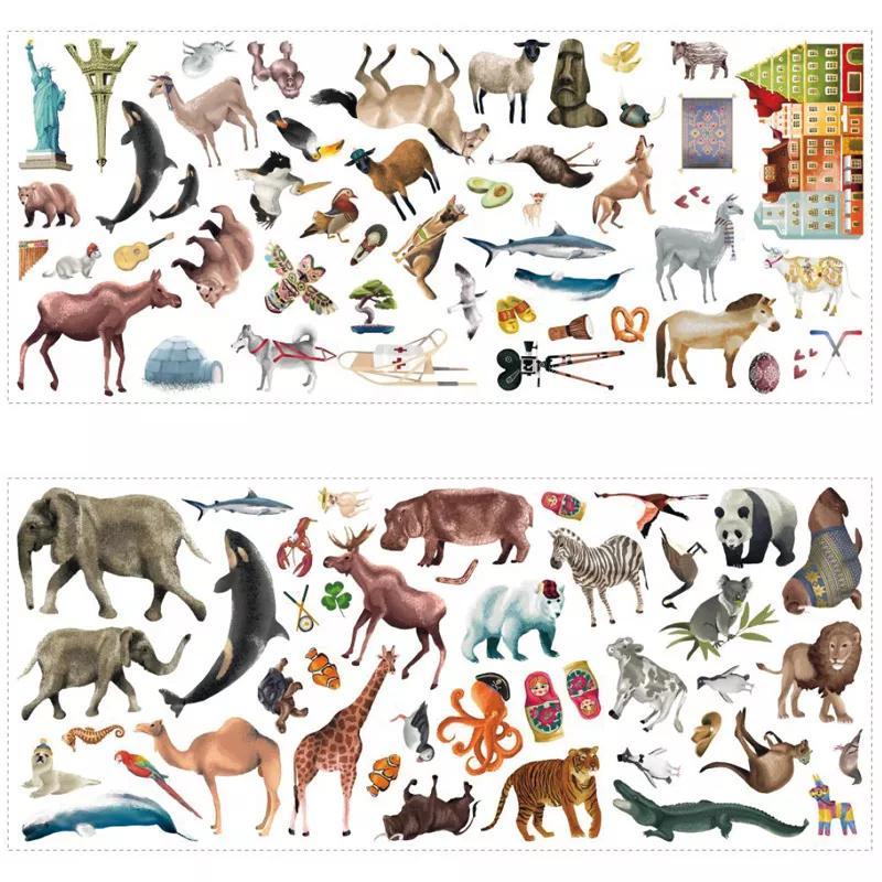 Állat mintás falimatrica
