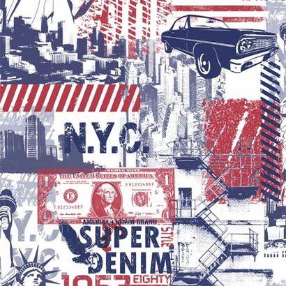 Amerikai álom mintás tapéta