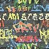 Antracit alapon színes graffiti mintás tini tapéta