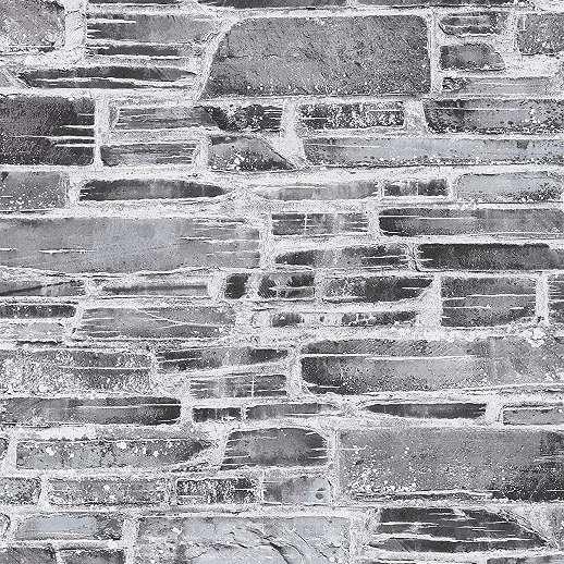 Antracit kőfal hatású vlies desig tapéta