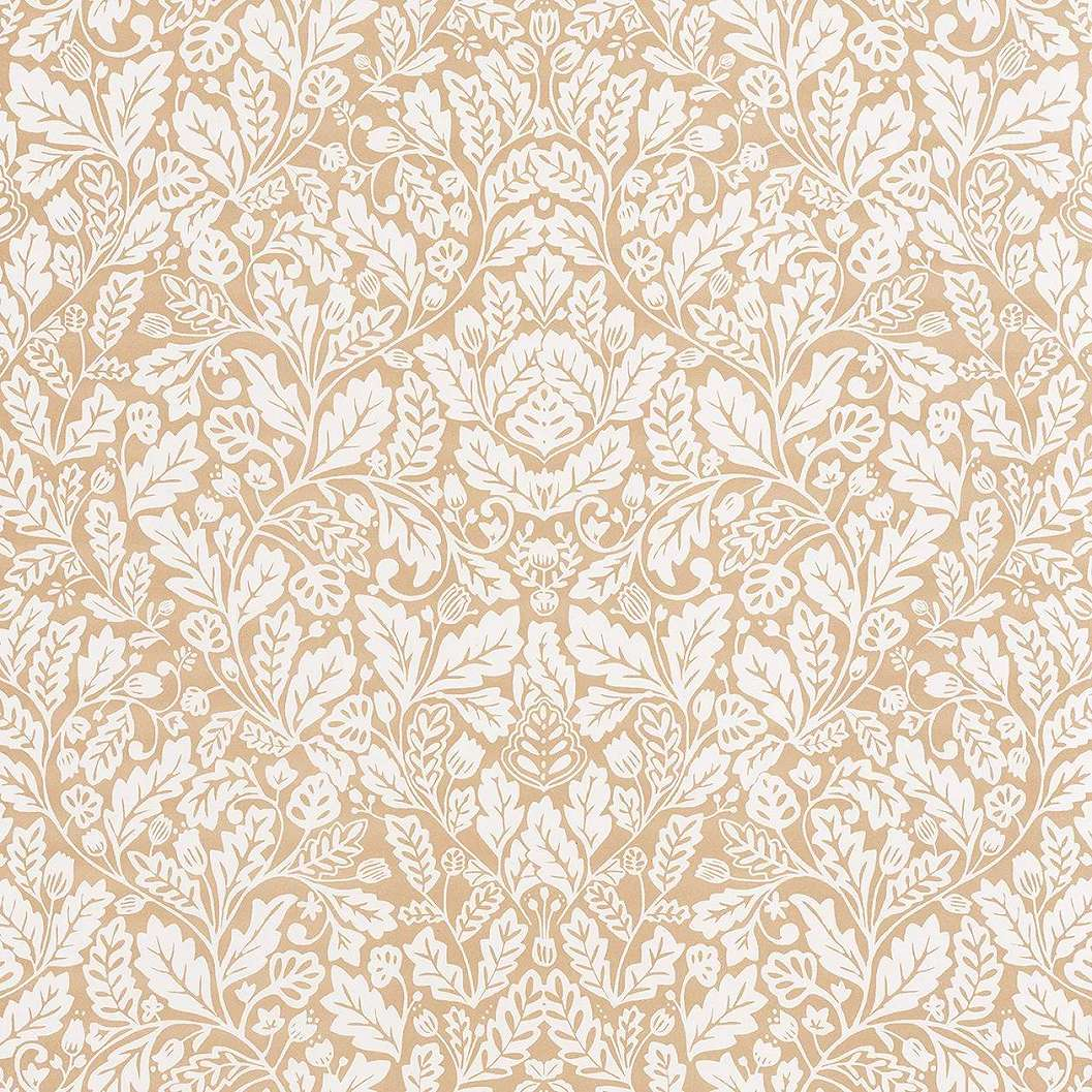 Arany alapon keletiesd stílusú virágmintás vlies tapéta
