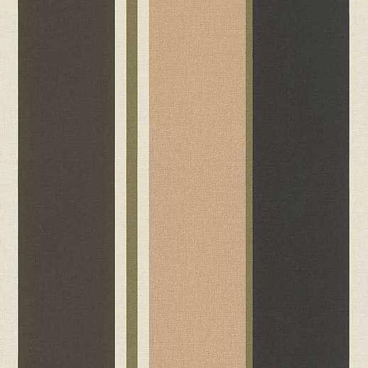 Arany-fekete elegáns modern csíkos mintás vlies tapéta