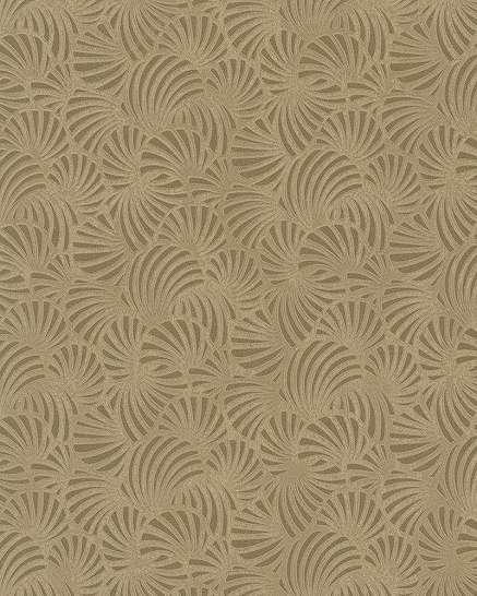 Arany kagyló mintás tapéta