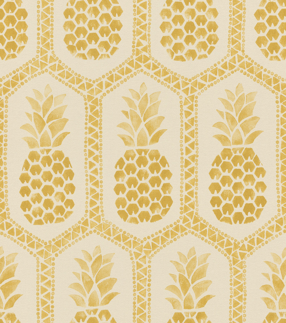 Arany színű ananász mintás tapéta
