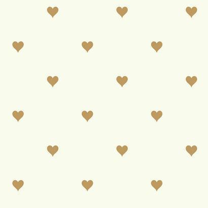 Arany színű szívecske mintás gyerek tapéta