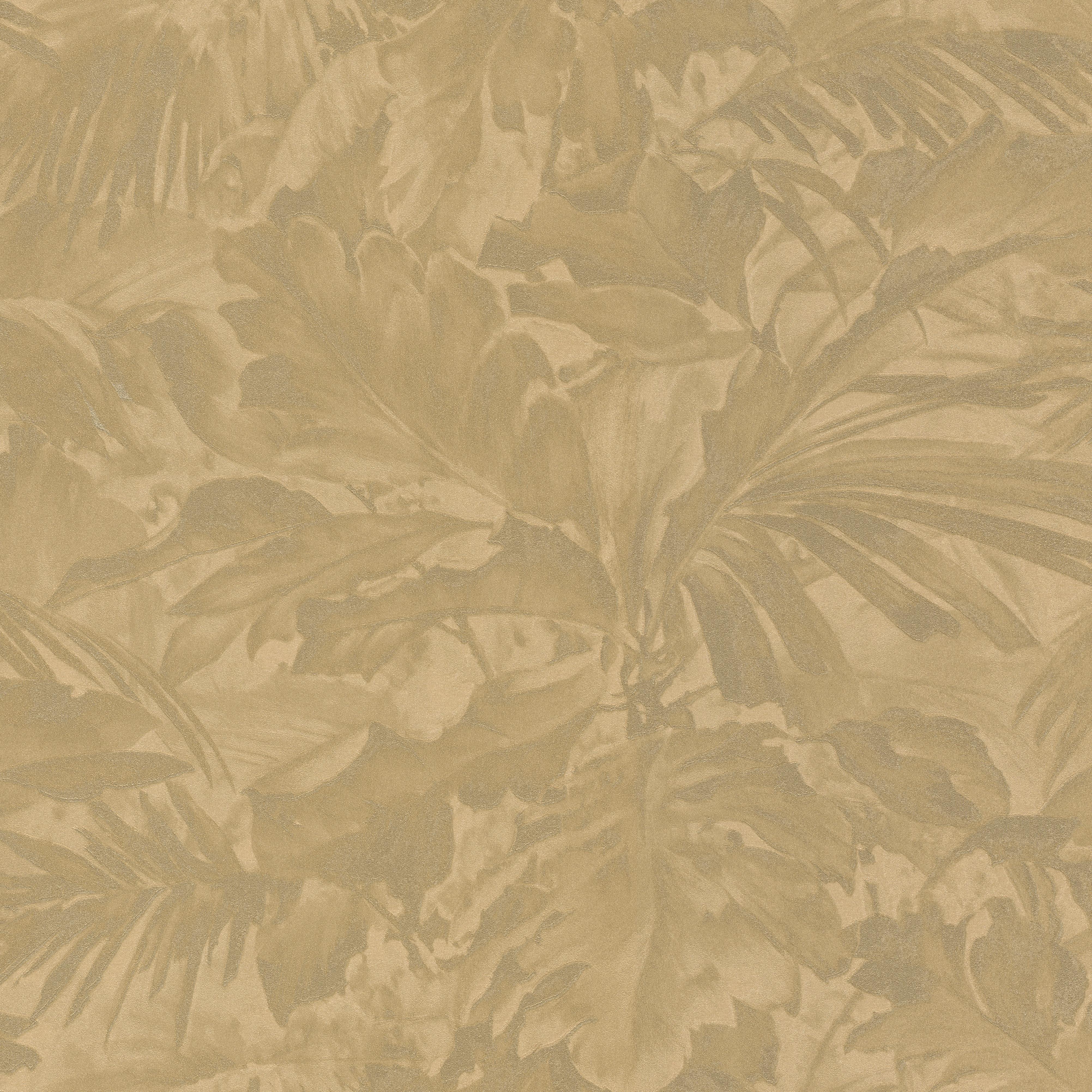 Aranysárga dzsungel hatású tapéta