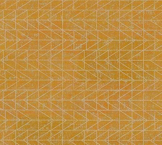 Aranysárga tapéta geometrikus mintával