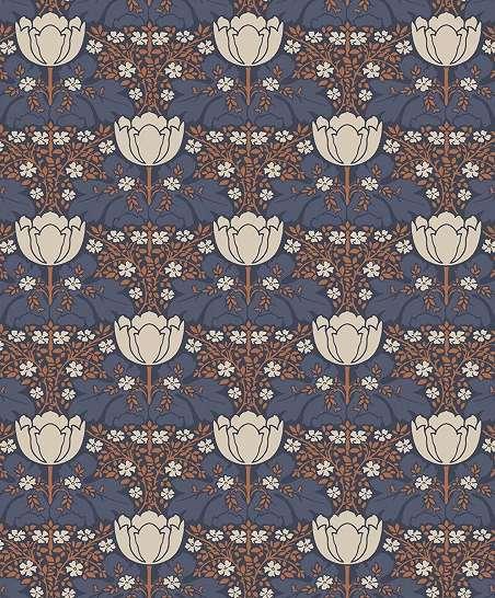 Art Deco stílusú virágmintás luxus tapéta
