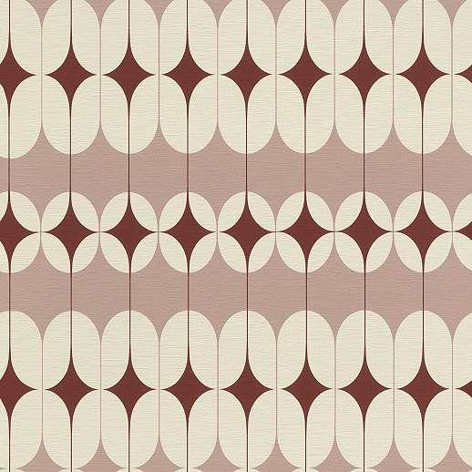 Artdeco stílusú tapéta piros, rózsaszín geometria mintákkal