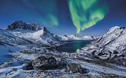 Aurora borealis Norvégiában fali poszter