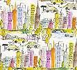 Autós gyerektapéta színes rajzolt autó mintával