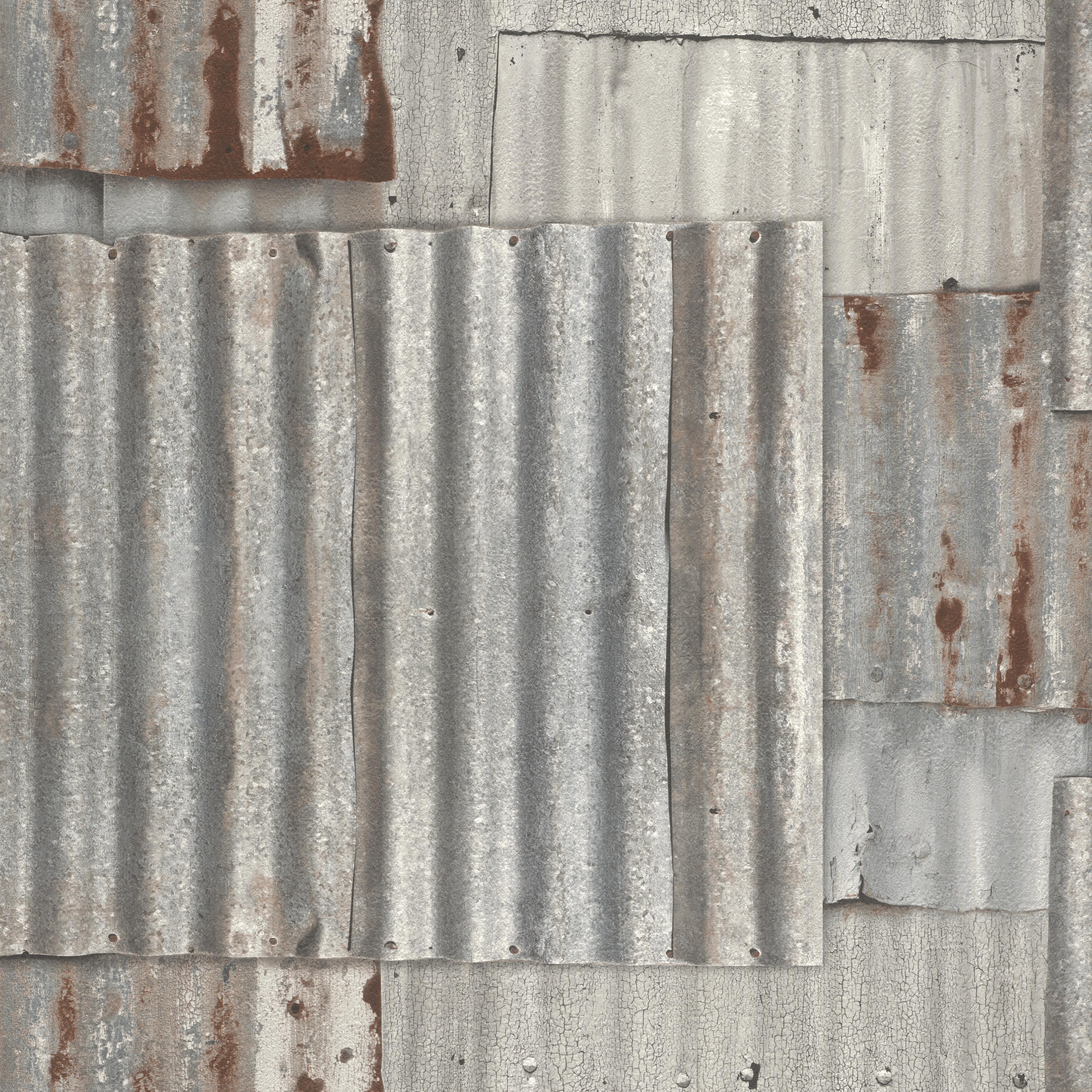 Bádoglemez mintás loft hangulatú tapéta