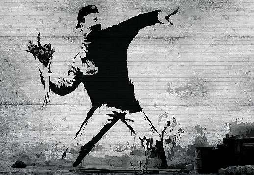 Banksy graffiti óriás fali poszter