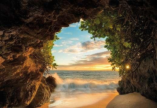 Barlang tengerparttal fali poszter