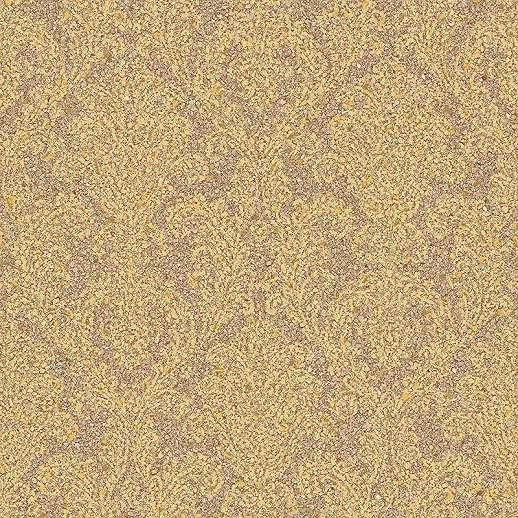 Barna arany damaszt mintás vlies tapéta fényes felülettel