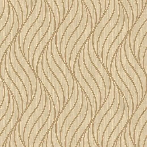 Barna arany hullám mintás dekor tapéta
