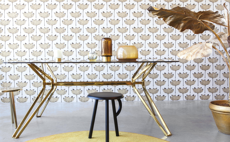 Barna, arany skandináv stílusú tapéta