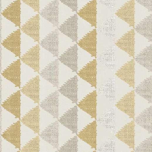 Barna bézs háromszög geometrikus mintás vinyl felületű tapéta