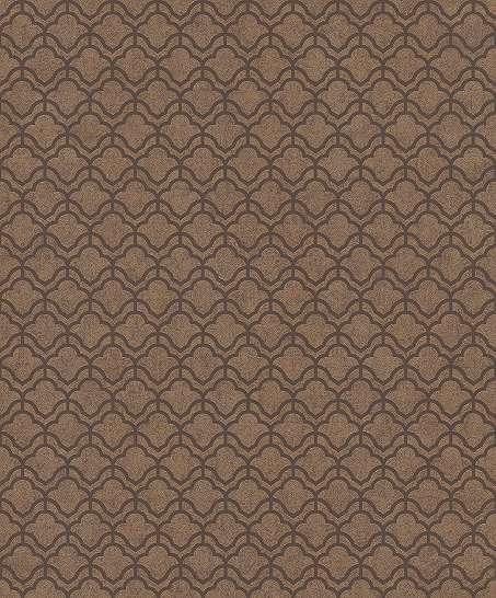 Barna bronz art deco geometrikus mintás vlies tapéta