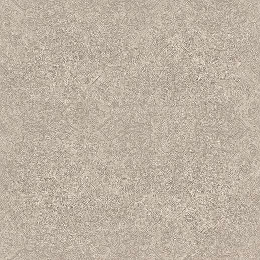 Barna bronz orientális hangulatú mandala mintás vlies tapéta