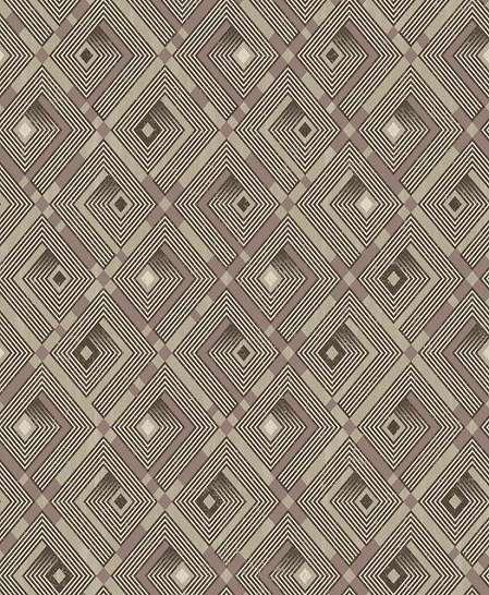 Barna geometrikus mintás vlies dekor tapéta