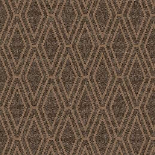 Barna nagyléptékű geometrikus mintás dekor tapéta